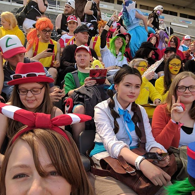 About 100 Pokémon characters in one place! An official Guinness world record!#pokemon #cosplay #sunnycon #guinnessworldrecord #newcastle #stjamespark