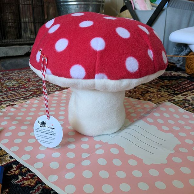 Another Toadstool order from Etsy! This one is off to Paris! Ooh la la ️#handmade #etsy #mushroom #toadstool #plushion #sewing #business