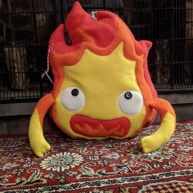 Here's another Calcifer off in the morning for a customer in Newcastle  love a local order ️ and the first one I've received on my website!Also what I've been up to lately including having nearly my whole house plastered  adulting again!#calcifer #ghibli #fire #plush #plushie #vivi #indiaink #adulting #busybusy